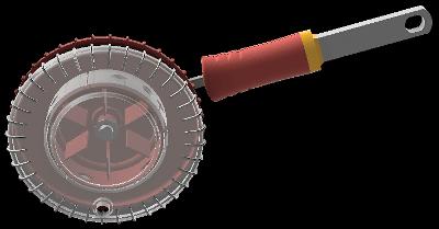 Wolf Gartenの種まき機EA-Mのモデリング完成画像