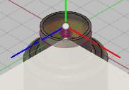 平面に作成したオフセット平面を選択します。