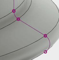 スケッチで描いた線を投影します