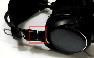 ヘッドフォン破損部位