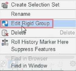 「剛性グループを編集」を選択します。