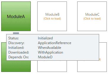 Module A コントロール上に、カーソルを重ねます。マウスをModule Aに重ねると、説明を表示するツールチップが表示されます。