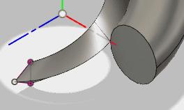 ガイドの螺旋の断面を3角に変更します。