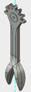 2つのアームがくっついて配置されています。