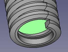 円柱の端面を選択します。