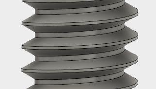 作成してみると、なぜか、わたしの考える台形ねじの形状とは異なって見えます。