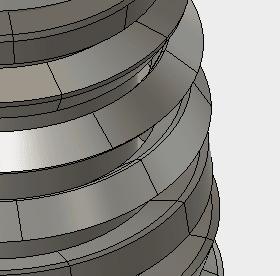 まっすぐ、押し出されないのは、スイープ断面が、わずかに回転しながら押し出されるのが原因です。