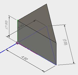 スケッチで寸法を表示させることで、3Dビューで寸法を表示させることができます。
