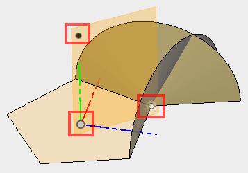3点を指定して平面を構築します。