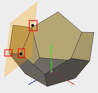 構築ドロップダウンから、「3点を通過する平面」を構築します。