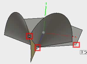 3点を指定して平面を構築します