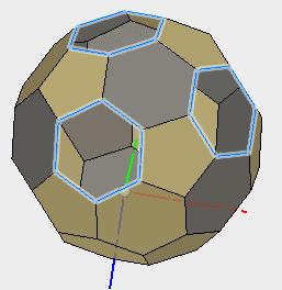 中心の6角形を作成して、残りはパッチで塞ぎます