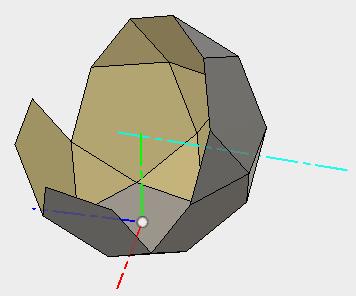 同じ軸を利用して、いくつかの面をパターン複写して、面を増やしていきます。