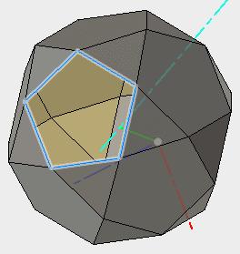 基準軸の緑で表示されるY軸を利用してパターン複写します。1つの面が作成されずに残りました。