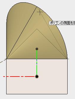 角数を3に指定し、3角形を描きます。