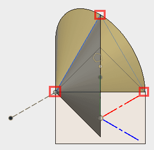 3角形を描きますn