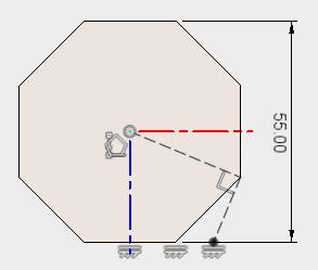 直線を引き、作図線に変更した後、拘束を追加し、スケッチを停止します。