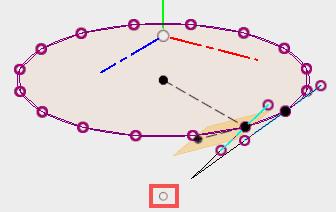 y軸と平面が交差する点を取得します。先ほど作成した点と重なることを確認します。見た目は同じですが、微妙に異なるようです。