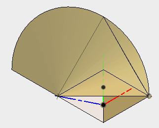 3角形を描き、スケッチを停止します。