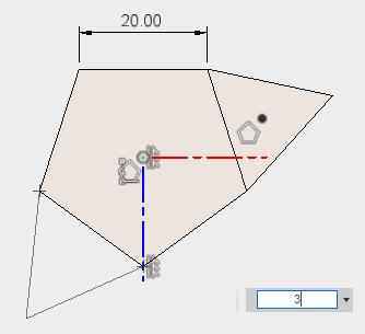 三角形を描き、スケッチを停止します。