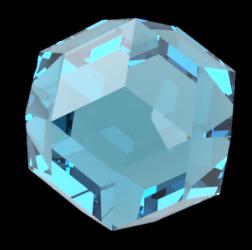 レンダリングした菱形三十面体