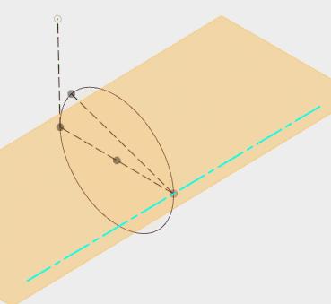 2つのエッジを指定して平面を構築します