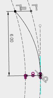 スケッチ、投影含めるから、プロジェクトを選択し、コイルを投影し、先程と同じようにスケッチします。