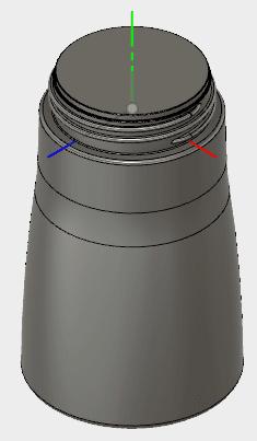 最上位のコンポーネントをアクティブ化し、ボトルのモデルを表示します。