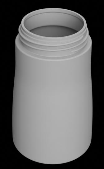 ボトルをモデリングして、レンダリングした画像