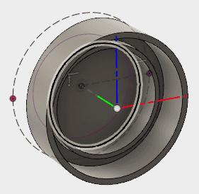 そして、ボディの下側の円も投影します。