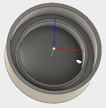 端に穴が開いているので、注ぎ残しなく、最後まで注げる構造です。