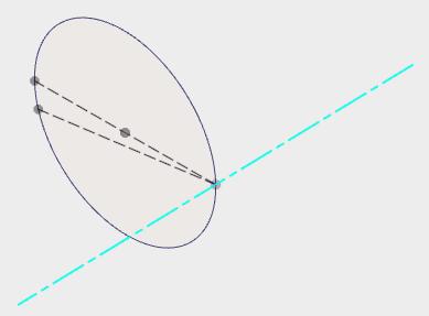 「点の位置で面に垂直な軸」を作成する機能は、指定する平面に、コンストラクション平面が使えない