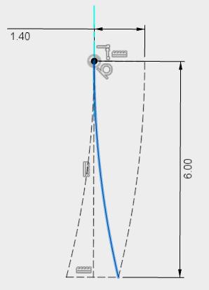 ネジ山の端部のパスが描けました