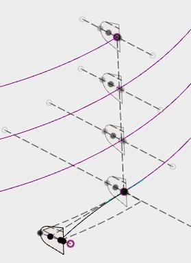 らせんのパスとスケッチを使用してロフトでネジ山の形状を作成します。