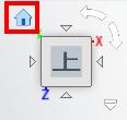 """ビューキューブにカーソルを重ねると表示されるホームボタンを押すと、モデルの向きが、標準方向に代わります。"""""""