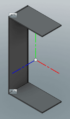 木ねじの下穴に現れるジョイントの原点を利用して、ジョイントを設定します。