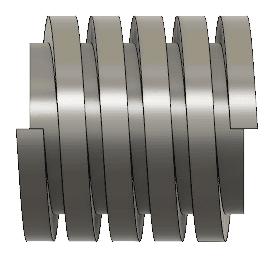 円柱と同じ長さのコイルだと、端部が不足する