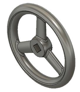 Fusion360でモデリングした円形ハンドル