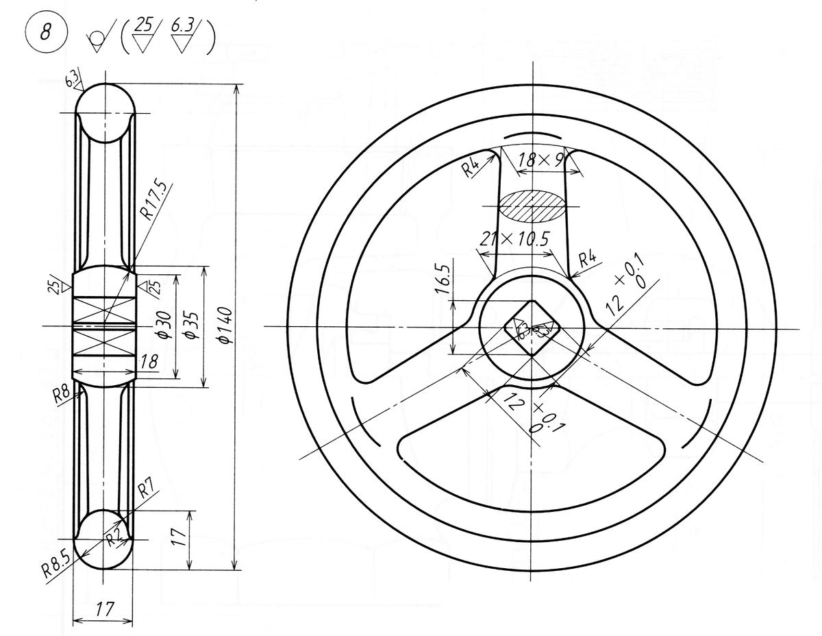 最新機械製図 製図例23-3