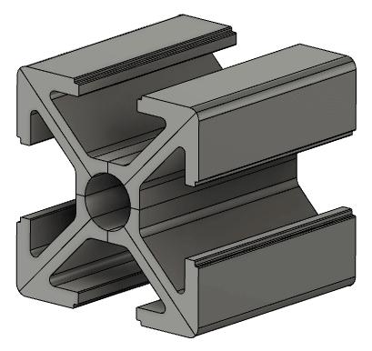 Fusion360でモデリングした中華アルミフレーム 20mm