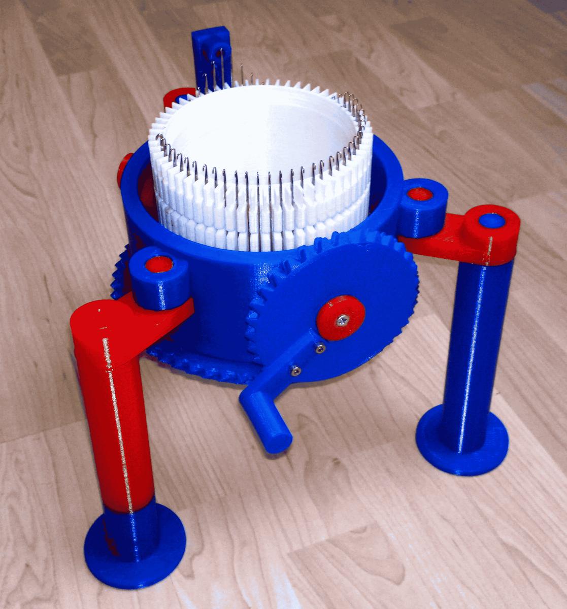 3D プリンタで作った編み機