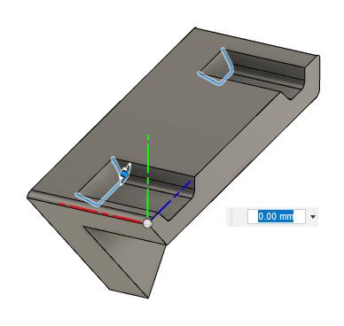 勾配を付けた面の稜線にフィレットを追加する