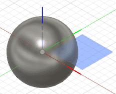 直径9mmの球を作成