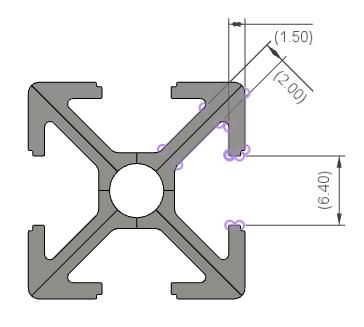 アルミフレームのレールの開放部は、実測で、6.4mmです。
