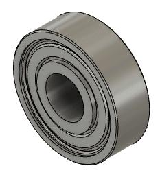 ボールベアリング、608ZZ ABEC-7 (内径8mm×外径22mm×幅7mm)(ダミー)