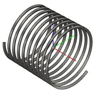 螺旋を取得するためのコイル