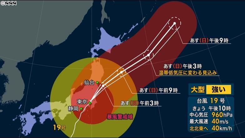 日本テレビ 台風情報の正しい見方