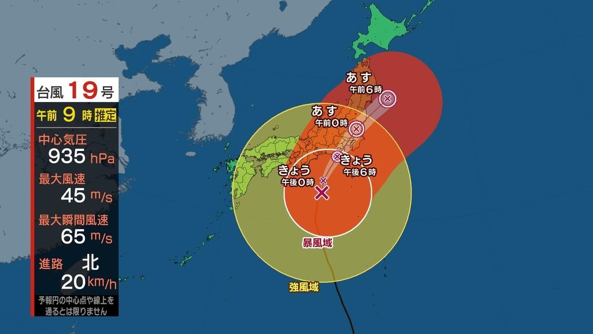 TBS 台風情報の正しい見方