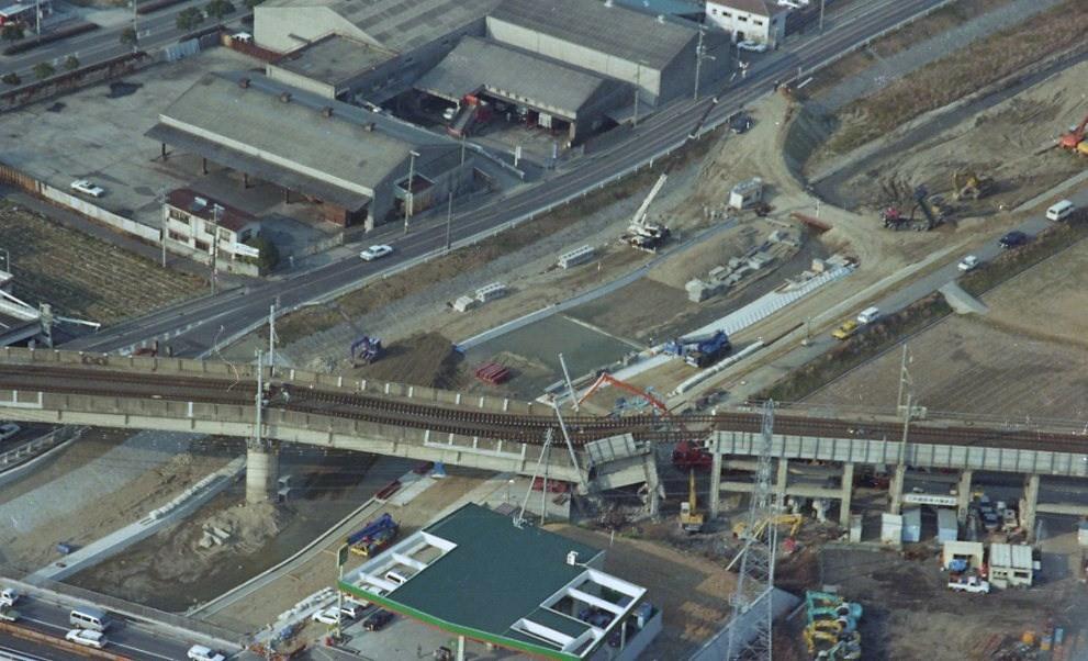 阪神淡路大震災 高架橋崩落