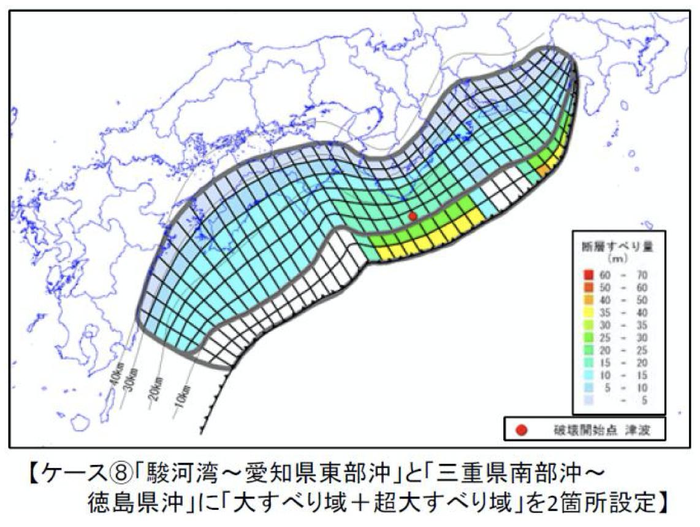 南海トラフ巨大地震 ケース8